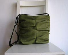 Wrinkled Olive Green Canvas Bag. $57.00, via Etsy.