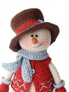 Mesmerizing Crochet an Amigurumi Rabbit Ideas. Lovely Crochet an Amigurumi Rabbit Ideas. Bunny Crochet, Crochet Snowman, Christmas Crochet Patterns, Holiday Crochet, Crochet Toys Patterns, Crochet Patterns Amigurumi, Stuffed Toys Patterns, Amigurumi Doll, Crochet Dolls