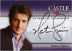NATHAN FILLION AUTOGRAPH TO APPEAR IN CASTLE SEASONS 1 & 2 SET