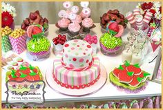 Strawberry Birthday Party Ideas | Photo 12 of 12 | Catch My Party