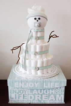 """BABY IT'S COLD OUTSIDE THEME How cute are these baby Shower ideas!?!?! When it is January in Chicago, I just cannot think of a better theme for a baby celebration than """"Baby it's Cold Outside."""" The Harte women ( Ellen, Caitlin and Ryanne) put together an..."""
