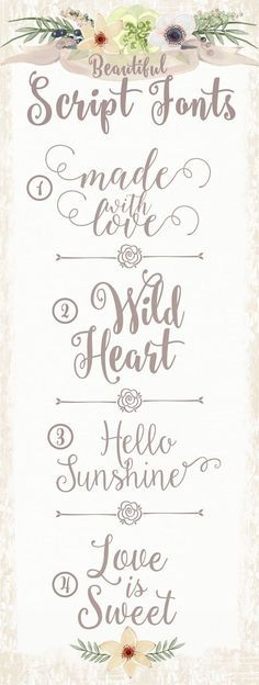Free fonts for copying in journaling and also for SVG creationg for silhouette and cricut cutting machines