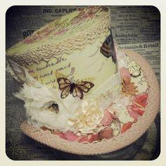 Tea Party hat Garden Wedding hat Steampunk Wedding Wedding Fascinator Alice in Wonderland hat Mini Top hat Steampunk hat Mad Hatter (79.00 USD) by OohLaLaBoudoir