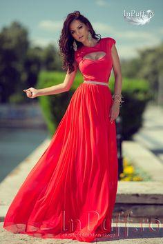 Rochie lunga de seara rosie