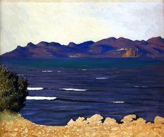Felix Vallotton - L Estérel et la baie de Cannes Winterthur, Pierre Bonnard, Landscape Art, Landscape Paintings, Van Gogh, Oeuvre D'art, Painting & Drawing, Printmaking, Modern Art