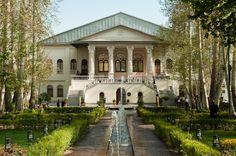 mideast-nrthafrica-cntrlasia: Cinema Museum of Iran in Ferdows Garden - Tehran, Iran Persian Garden, Iran Travel, Cozy Cafe, Countries To Visit, Lake Forest, Desert Island, Museum Of Contemporary Art, Grand Entrance, Parcs