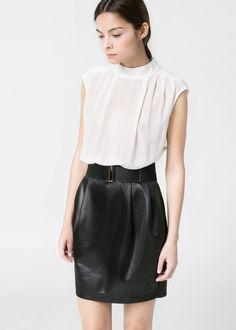 Your Style Lab | Combijurk zwart-wit Mango