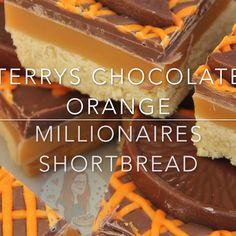 Buttery Orange flavoured Shortbread, Delicious Homemade Caramel, and Terry's Chocolate Orange Goodness on top. Buttery Orange flavoured Shortbread, Delicious Homemade Caramel, and Terry's Chocolate Orange Goodness on top. Caramel Shortbread, Shortbread Recipes, Homemade Shortbread, Homemade Chocolates, Tray Bake Recipes, Cookie Recipes, Orange Recipes, Sweet Recipes, Köstliche Desserts