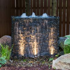 Aquascape Stacked Slate Spillway Wall Water Feature - Walmart.com - Walmart.com Modern Water Feature, Small Water Features, Diy Water Feature, Outdoor Water Features, Backyard Water Feature, Water Features In The Garden, Aquascaping, Patio Wall, Water Walls