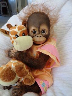 Reborn Monkey by JoGranny Ebay
