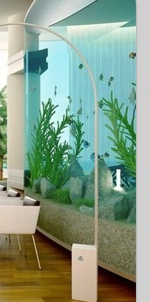 Aquarium Wall I am so going to have an aquarium wall in my future house. Along with an aquarium coffee table and aquarium floor.