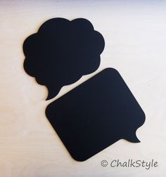 2 Large Chalkboard Speech Bubble   Set of 2 Sturdy by ChalkStyle, $17.99