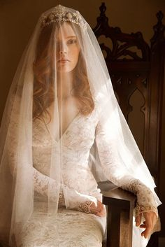 Coronation crown with silk veil Bride Tiara, Bride Veil, Headpiece Wedding, Wedding Veils, Wedding Dresses, Bridal Headpieces, Bridal Hair Down, Wedding Hair Down, Bridal Hair Tiara