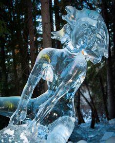 The World #IceArt Championships got a little #weird  #Fairbanks #Alaska #travel #vacation #ice #art