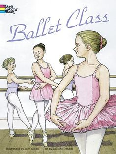 Ballet Class Coloring Book (Dover Fashion Coloring Book) by John Green - Forty-two clear, accurate drawings (all in proper sequence) depict everything that goes on in a beginner's class, from lacing up the ballet shoe to executing the perfect arabesque. Illustrated instructions as well for proper posture, warm-up exercises, arm movements and much more. Inspirational, encouraging and instructive advice.