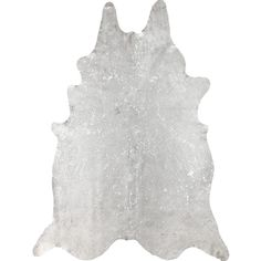 nuLOOM Hand-picked Brazilian White Devour Cowhide Rug (5' x 7')