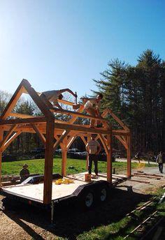 Modified Hammer Beam Truss Design Timber Framing