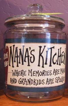 NEW Grandma/Nana Cookie Jars Choose 1 of these by MadeAtNanasHouse, $14.99