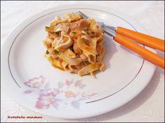 Tagliatelle (tăiței lați) cu sos de ardei și carne Macaroni And Cheese, Ethnic Recipes, Food, Mac And Cheese, Essen, Meals, Yemek, Eten