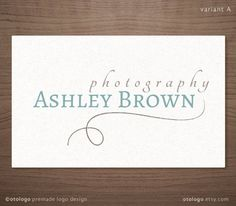Premade Logo Design for Photographers Vintage Frame - Photography Boutique Wedding Small Business. $15.00, via Etsy.