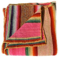 Pure wool frazada, Peru. These vintage textiles, called frazadas, have been handwoven by Aymara women in the Andean region since pre-hispanic times, and used to protect against the high altitude cold.