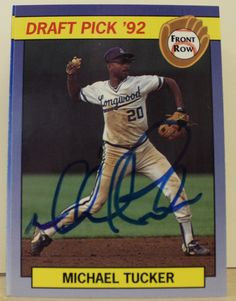 Michael Tucker Kansas City Royals Autographed 1992 Front Row Card