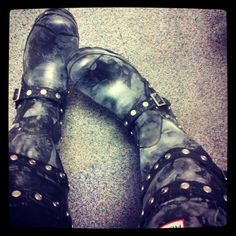 My shoes (well, wellies actually) ... Hunter Festival wellington boots ... for rainy days :)