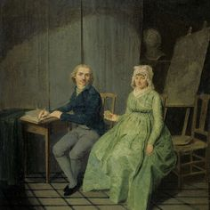 """A Painter with his Wife,"" Wybrand Hendriks, 1791(?); Rijksmuseum SK-A-1989"