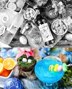 Before and After: Blue Easter Cocktail by A Worthy Read