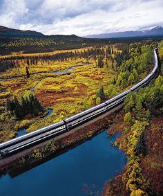 #Alaska Railroad - Train from Anchorage to Denali National Park