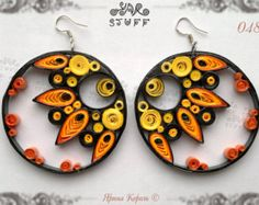 Quilled Jewelry Set Fashion Jewelry by YarStuff on Etsy