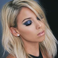 Glitter goddess ✨ @lustrelux slays in our Face & Body Glitter in 'Gunmetal' ☑️ Go watch our Snap Story before it *poof* disappears || #nyxcosmetics