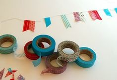 the red thread: Japanese Washi Tape :: Mini Bunting Tutorial