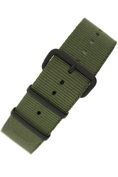 Nato Watch Straps in GREEN with PVD Buckle and Keepers – WatchObsession