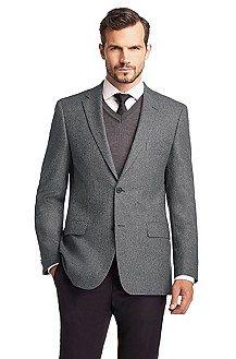 Pulli, Pullunder oder Strickjacke in Dunkelgrau lassen das formelle Outfit lockerer wirken