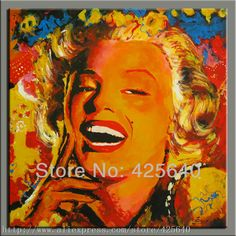 Pop Art Oil painting on canvas hight Quality Hand-painted Painting Marilyn Monroe oil painting China Painting, Oil Painting On Canvas, Oil Painting Pictures, Photo To Art, Portraits From Photos, Cheap Paintings, Palette Knife Painting, Arte Pop, Online Painting