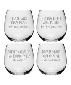 Look what I found on #zulily! Uncorked Assortment Stemless Wine Glass - Set of Four #zulilyfinds