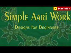 Simple aari work designs images   aari work designs for beginners   aari work design patterns - YouTube