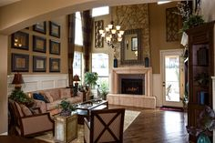 Toll Brothers - Balmoral Stunning 2-Story Great Room Maybe doing the furniture a little bit different