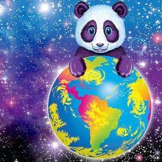 Lisa Frank Panda hugging the world!