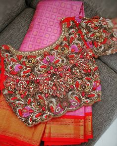 Blouse Back Neck Designs, Blouse Designs, Bridal Photography, Photography Poses, Saree Look, Thread Work, Work Blouse, Blouses, Women