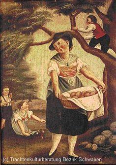 Füssen, Apfellese um 1800