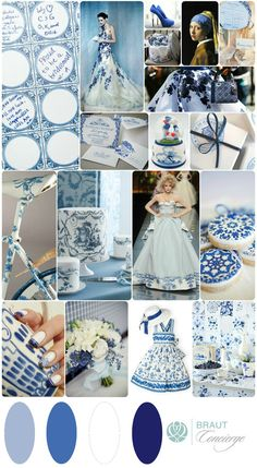 Delf Blue inspired Wedding Moodboard I Braut Concierge