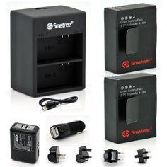 Cargador de batería Micro USB para GoPro HD Hero 3 III chdhx 301 Hero 3 Black III