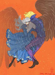 Howl + Sophie by janey-jane.deviantart.com on @DeviantArt