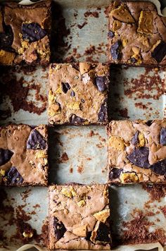 Double-Choc Digestive Brownies