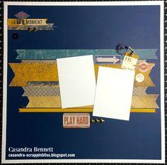 layout by Casandra Bennett using CTMH Urban paper- could be adapted to No Worries paper packet. Scrapbook Templates, Scrapbook Designs, Scrapbook Sketches, Scrapbook Page Layouts, Scrapbook Paper Crafts, Scrapbooking Ideas, Baby Scrapbook, Travel Scrapbook, Scrapbook Cards