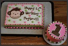 Girl monkey First birthday cake!