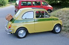 Fiat 500 Pop, Small Cars, Vehicles, Dreams, Nice, Green, Photography, Photograph, Rolling Stock