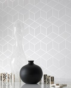 Order NOW Cubix Geometric Textured Dimensional Effect Wallpaper 3 Colors | eBay